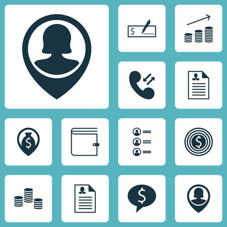feedback form: Set Of Hr Icons On Pin Employee, Curriculum Vitae And Business Goal Topics. Editable Vector Illustration. Includes Coins, Wallet, Career And More Vector Icons.