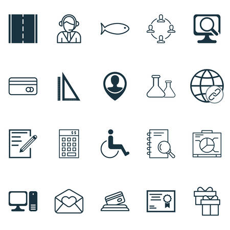 telemarketer: Set Of 20 Universal Editable Icons. Can Be Used For Web, Mobile And App Design. Includes Icons Such As Fishing, Desktop Computer, Credit Card And More.