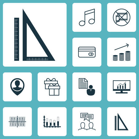reporting: Set Of 12 Universal Editable Icons. Can Be Used For Web, Mobile And App Design. Includes Icons Such As Present, Report, Plastic Card And More. Illustration
