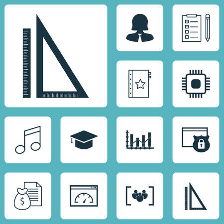 crotchets: Set Of 12 Universal Editable Icons. Can Be Used For Web, Mobile And App Design. Includes Icons Such As Loading Speed, Crotchets, Measurement And More. Illustration