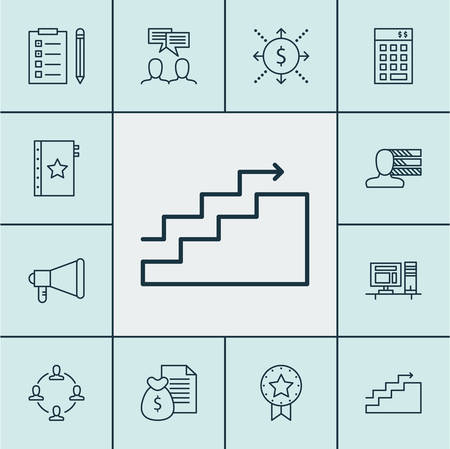 personality development: Set Of Project Management Icons On Investment, Computer And Growth Topics. Editable Vector Illustration. Includes Management, Win, Teamwork And More Vector Icons.