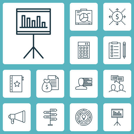 project charter: Set Of Project Management Icons On Warranty, Discussion And Presentation Topics. Editable Vector Illustration. Includes Quality, Announcement, Warranty And More Vector Icons. Illustration