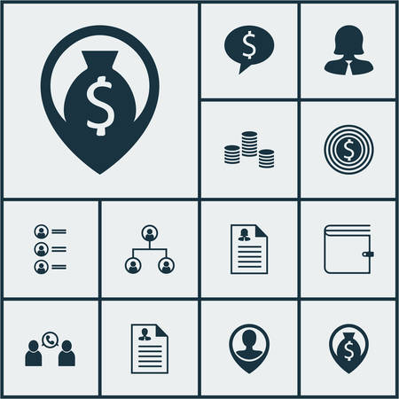 list of successful candidates: Set Of Human Resources Icons On Job Applicants, Curriculum Vitae And Money Topics. Editable Vector Illustration. Includes Map, Career, Money And More Vector Icons.