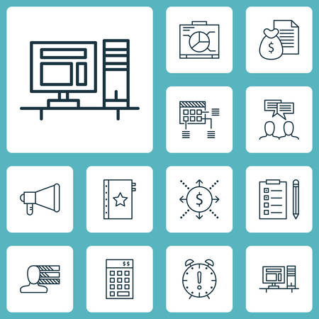 personality development: Set Of Project Management Icons On Money, Warranty And Reminder Topics. Editable Vector Illustration. Includes Team, Quality, Presentation And More Vector Icons.