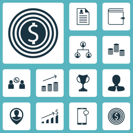 sms payment: Set Of Hr Icons On Female Application, Successful Investment And Coins Growth Topics. Editable Vector Illustration. Includes Growth, Profile, Goal And More Vector Icons.