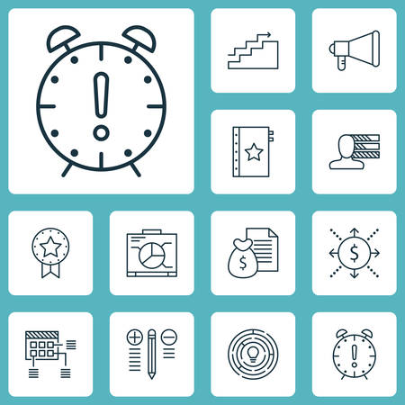 project charter: Set Of Project Management Icons On Personal Skills, Announcement And Board Topics. Editable Vector Illustration. Includes Dashboard, Right, Solution And More Vector Icons.
