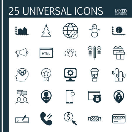 spending: Set Of 25 Universal Editable Icons. Can Be Used For Web, Mobile And App Design. Includes Icons Such As Cooperation, Takeaway Coffee, PPC And More. Illustration