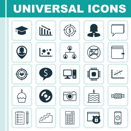 investment security: Set Of 25 Universal Editable Icons. Can Be Used For Web, Mobile And App Design. Includes Icons Such As Investment, Security, Conference And More. Illustration