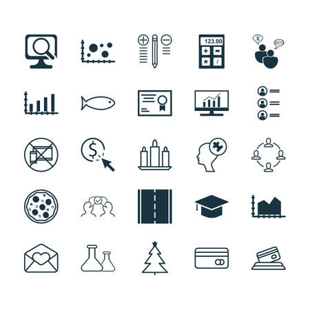 Set Of 25 Universal Editable Icons. Can Be Used For Web, Mobile And App Design. Includes Icons Such As Fishing, Certificate, Plastic Card And More. Illustration