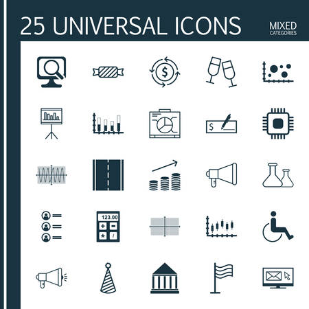 segmented: Set Of 25 Universal Editable Icons. Can Be Used For Web, Mobile And App Design. Includes Icons Such As Accessibility, Bank Payment, Segmented Bar Graph And More.