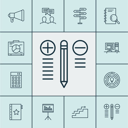 job satisfaction: Set Of Project Management Icons On Board, Innovation And Warranty Topics. Editable Vector Illustration. Includes Presentation, Brainstorm, Team And More Vector Icons.