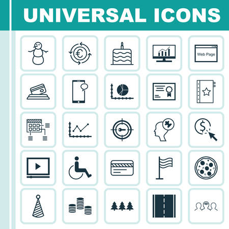 infirm: Set Of 25 Universal Editable Icons. Can Be Used For Web, Mobile And App Design. Includes Icons Such As Photo Camera, Winter, Holiday Ornament And More.