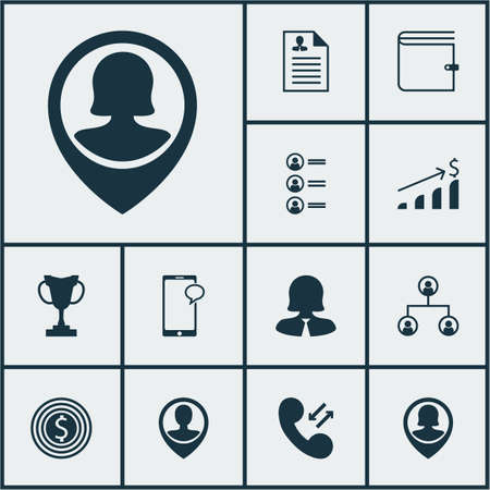 sms payment: Set Of Management Icons On Business Goal, Job Applicants And Cellular Data Topics. Editable Vector Illustration. Includes Success, User, Cup And More Vector Icons.