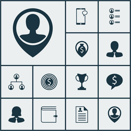 first form: Set Of Hr Icons On Business Deal, Employee Location And Tree Structure Topics. Editable Vector Illustration. Includes Cash, Organisation, Wallet And More Vector Icons.