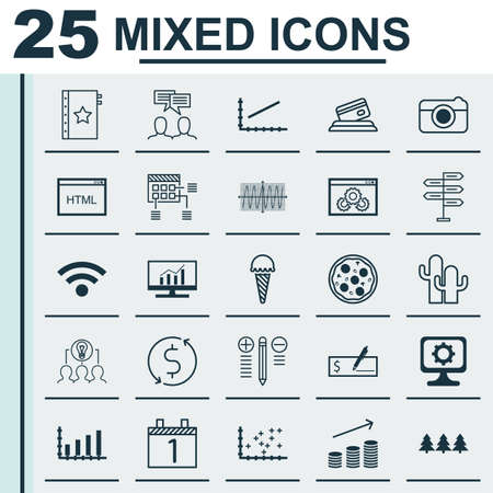 cosinus: Set Of 25 Universal Editable Icons. Can Be Used For Web, Mobile And App Design. Includes Icons Such As Discussion, Wireless, Cosinus Diagram And More. Illustration