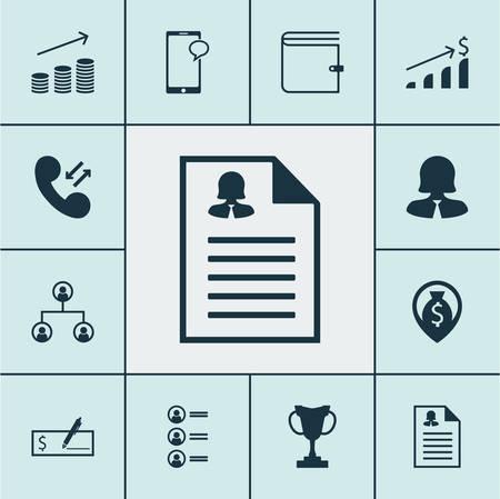 Ensemble d'icônes de ressources humaines sur les sujets de porte-monnaie, de données cellulaires et de demandeurs d'emploi. Illustration vectorielle modifiable. Inclut la carte, le portefeuille, le chat et plus d'icônes de vecteur.