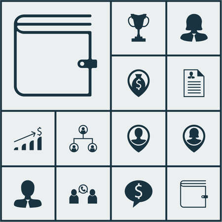 the applicant: Set Of Management Icons On Wallet, Phone Conference And Business Woman Topics. Editable Vector Illustration. Includes Structure, Call, Career And More Vector Icons. Illustration