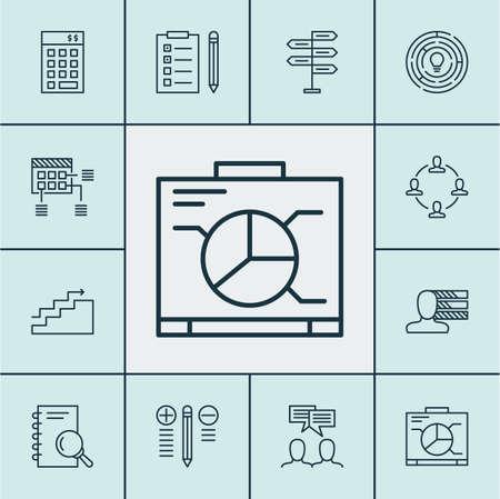 Ensemble d'icônes de gestion de projet sur l'analyse, Rappel et prise de décision Sujets. Editable Vector Illustration. Comprend Brainstorming, budget, personnel et plus Icônes Vector.