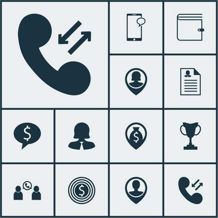 Ensemble d'icônes de ressources humaines sur le tournoi, but d'affaires et épingler les sujets d'employé. Illustration vectorielle modifiable Inclut la tasse, l'argent, le portefeuille et plusieurs icônes vectorielles.