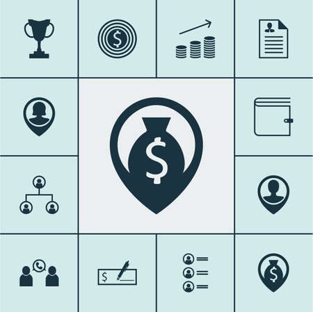 Set Of Human Resources Icons On Tournament, Business Goal And Job Applicants Topics. Editable Vector Illustration. Includes Career, Phone, Cash And More Vector Icons.