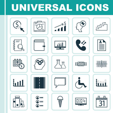 Set Of 25 Universal Editable Icons. Can Be Used For Web, Mobile And App Design. Includes Icons Such As Chemical, Analysis, Conference And More.