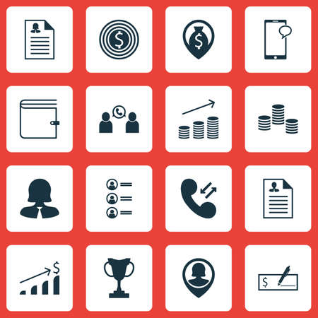 list of successful candidates: Set Of Management Icons On Messaging, Coins Growth And Pin Employee Topics. Editable Vector Illustration. Includes User, Mobile, Map And More Vector Icons.