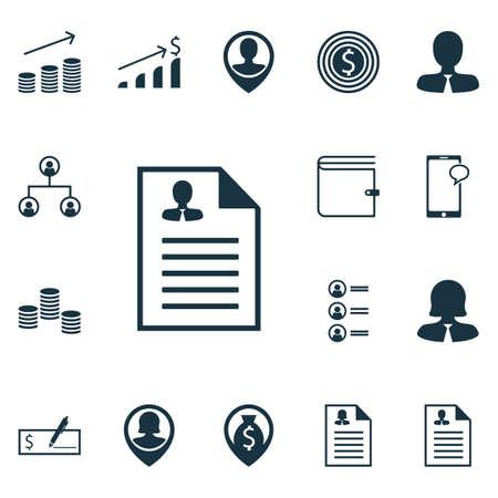 Ensemble d'icônes Hr sur le paiement bancaire, les objectifs commerciaux et les sujets de structure arborescente. Illustration vectorielle modifiable Comprend les icônes Liste, Augmentation, Arbre et Plus de vecteur.