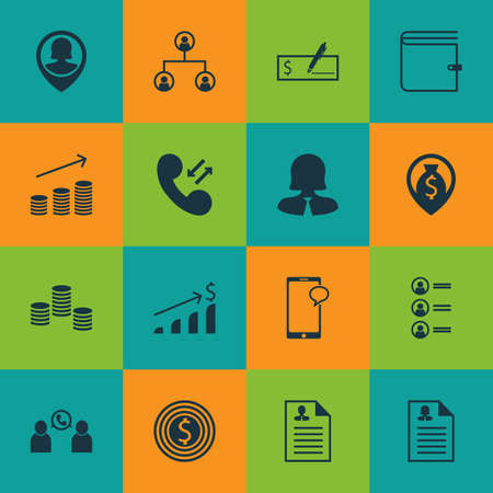 Ensemble d'icônes Hr sur la navigation de l'argent, épingler les sujets de données de l'employé et cellulaire. Illustration vectorielle modifiable Comprend utilisateur, homme, pièces de monnaie et plusieurs icônes vectorielles.