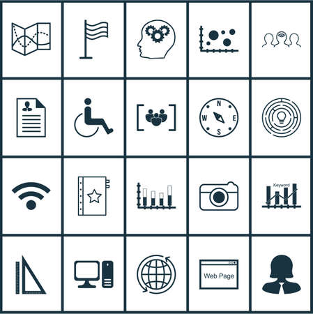 infirm: Set Of 20 Universal Editable Icons. Can Be Used For Web, Mobile And App Design. Includes Icons Such As Brain Process, Coaching, Pin And More.