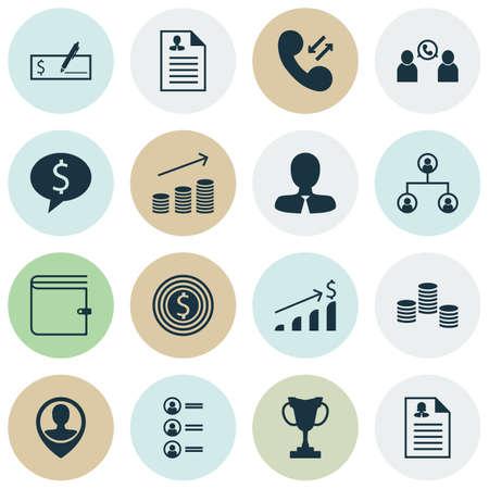 Ensemble d'icônes de gestion sur les sujets Money, Manager et Tree Structure. Illustration vectorielle modifiable Comprend argent, sac à main, conférence et plusieurs icônes vectorielles.