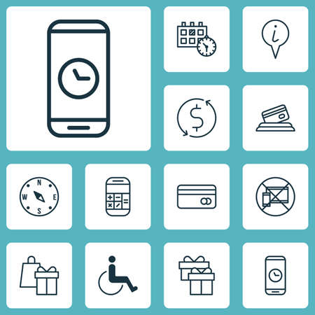 paralyzed: Set Of Airport Icons On Present, Appointment And Forbidden Mobile Topics. Editable Vector Illustration. Includes Paralyzed, Exchange, Info And More Vector Icons.