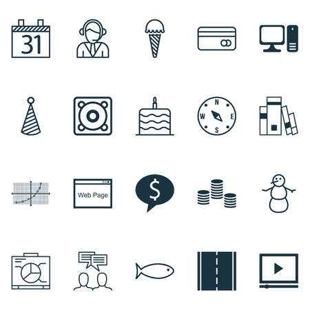swimming candles: Set Of 20 Universal Editable Icons. Can Be Used For Web, Mobile And App Design. Includes Icons Such As Photo Camera, Video Player, Board And More.