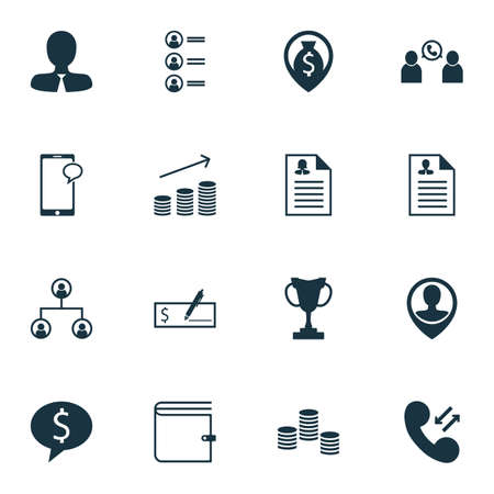 list of successful candidates: Set Of Human Resources Icons On Employee Location, Money Navigation And Manager Topics. Editable Vector Illustration. Includes Dollar, Employee, Prize And More Vector Icons.
