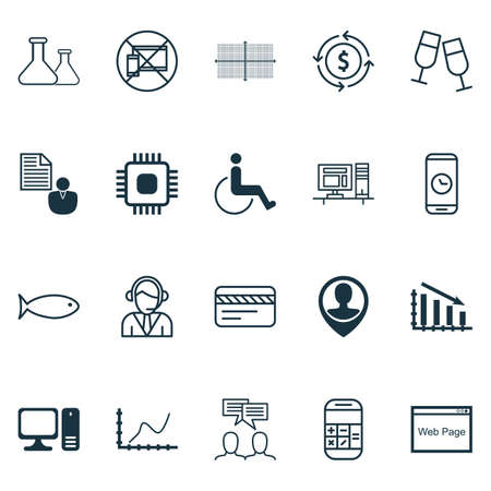 Set Of 20 Universal Editable Icons. Can Be Used For Web, Mobile And App Design. Includes Icons Such As Accessibility, Bank Card, Fishing And More.