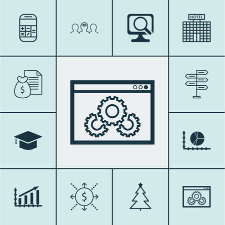 Set Of 12 Universal Editable Icons. Can Be Used For Web, Mobile And App Design. Includes Icons Such As Money, Report, Decorated Tree And More.