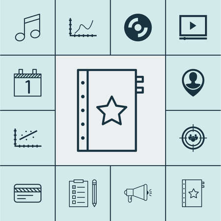 crotchets: Set Of 12 Universal Editable Icons. Can Be Used For Web, Mobile And App Design. Includes Icons Such As Video Player, Focus Group, Crotchets And More.