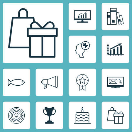 swimming candles: Set Of 12 Universal Editable Icons. Can Be Used For Web, Mobile And App Design. Includes Icons Such As Announcement, Present Badge, Human Mind And More.