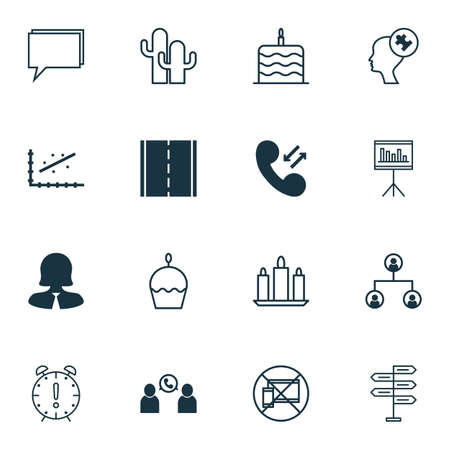 mind set: Set Of 16 Universal Editable Icons. Can Be Used For Web, Mobile And App Design. Includes Icons Such As Forbidden Mobile, Photo Camera, Human Mind And More.