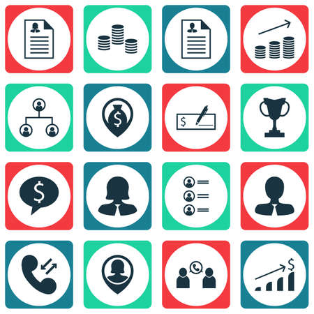 Set Of Management Icons On Tournament, Manager And Money Topics. Editable Vector Illustration. Includes Cellular, Stacked, Phone And More Vector Icons.