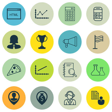 account executives: Set Of 16 Universal Editable Icons. Can Be Used For Web, Mobile And App Design. Includes Icons Such As Operator, Employee Location, Money Navigation And More.