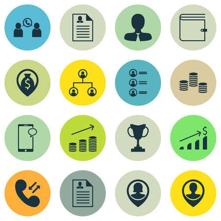 Ensemble d'icônes Hr sur le portefeuille, l'emplacement des employés et les sujets d'application féminins. Illustration vectorielle modifiable Comprend des icônes cellulaires, utilisateur, carte et plus de vecteur.