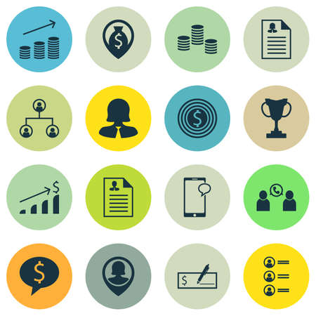Set Of Human Resources Icons On Business Woman, Money Navigation And Female Application Topics. Editable Vector Illustration. Includes Tree, Resume, Application And More Vector Icons.