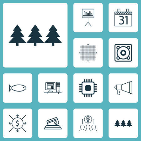 scanned: Set Of 12 Universal Editable Icons. Can Be Used For Web, Mobile And App Design. Includes Icons Such As Announcement, Computer, Collaborative Solution And More.