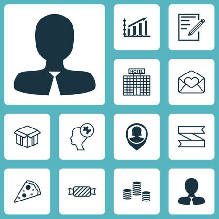 mind set: Set Of 12 Universal Editable Icons. Can Be Used For Web, Mobile And App Design. Includes Icons Such As Profit Graph, Sweet, Human Mind And More.
