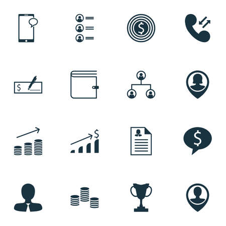 sms payment: Set Of Human Resources Icons On Successful Investment, Coins Growth And Tree Structure Topics. Editable Vector Illustration. Includes Purse, Call, Resume And More Vector Icons. Illustration