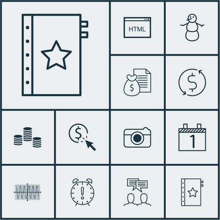 12 ユニバーサル編集可能なアイコンのセットです。Web、モバイル、アプリの設計に使用できます。レポート、ストリート、ディスカッションなどの