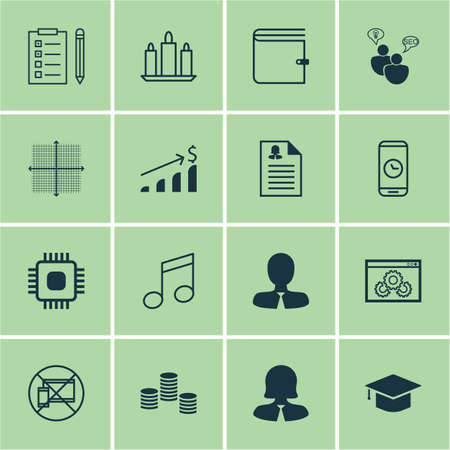 time account: Set Of 16 Universal Editable Icons. Can Be Used For Web, Mobile And App Design. Includes Icons Such As Forbidden Mobile, Graduation, Reminder And More.