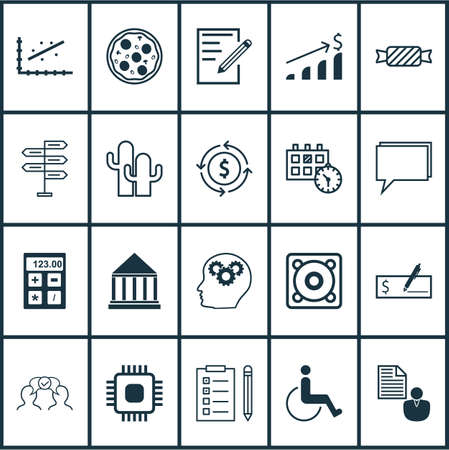 infirm: Set Of 20 Universal Editable Icons. Can Be Used For Web, Mobile And App Design. Includes Icons Such As Music, Sweet, Conference And More.