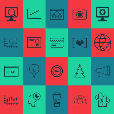 Set Of 20 Universal Editable Icons. Can Be Used For Web, Mobile And App Design. Includes Icons Such As Connectivity, Questionnaire, Laptop And More. Illustration