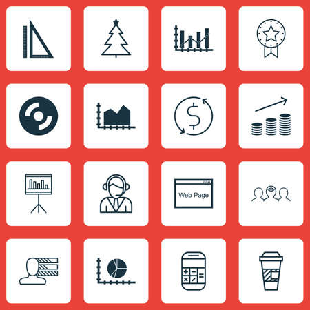 take charge: Set Of 16 Universal Editable Icons. Can Be Used For Web, Mobile And App Design. Includes Icons Such As Raise Diagram, Takeaway Coffee, Coaching And More. Illustration